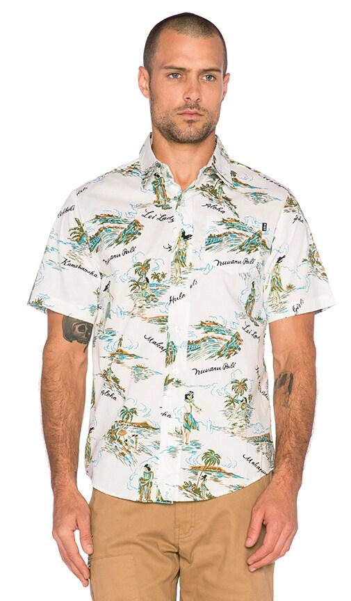 Huf Makapuu Short Sleeve Shirt in White