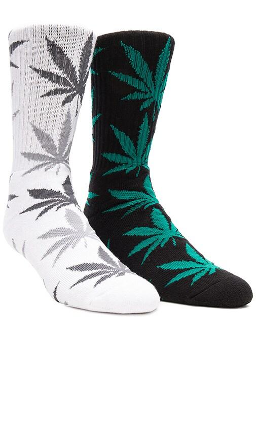 2-Pack Plantlife Crew Socks