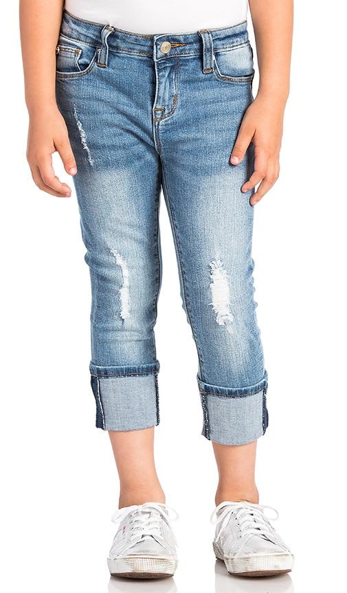 Hudson Jeans Kids Ginny Crop in Blasted Blue