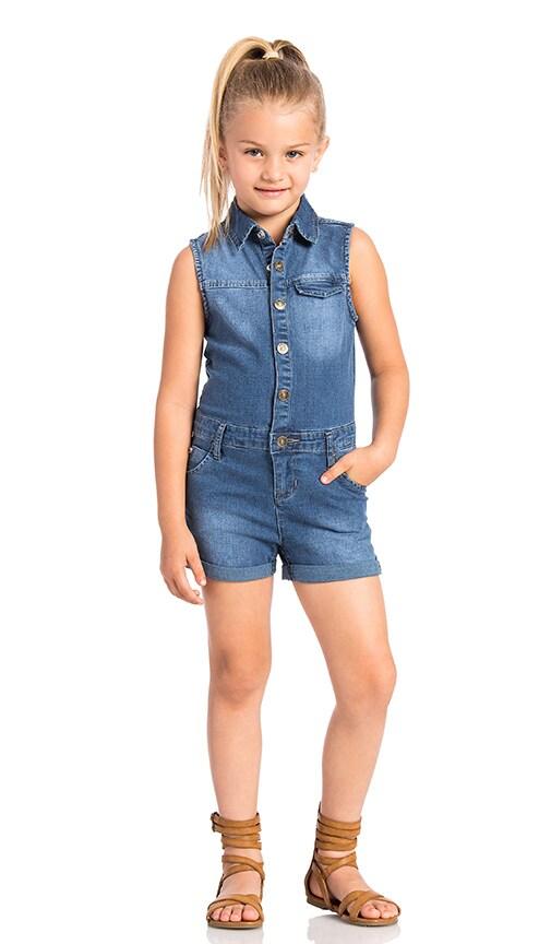 Hudson Jeans Kids Harmony Romper in Foam