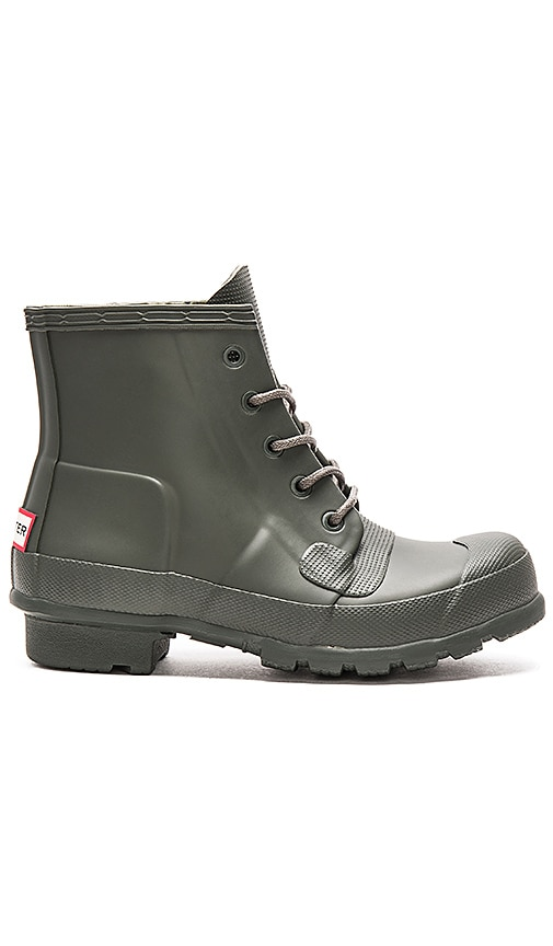 eace13c6e7fc Hunter Original Lace Up Rain Boot in Dark Olive