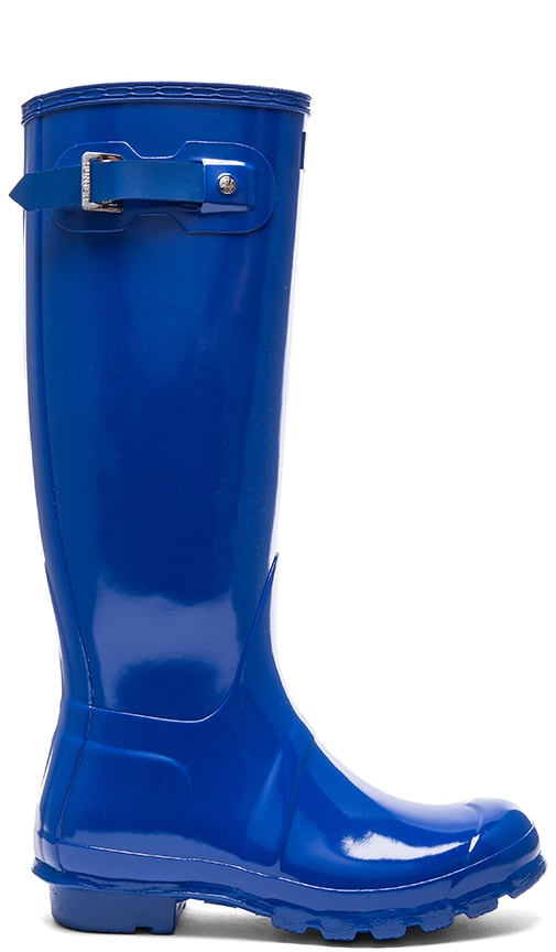 Hunter Womens Original Tall Gloss Boot in Bright Cobalt