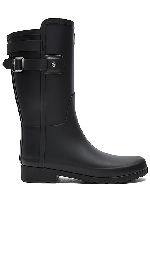 Hunter Original Refined Back Strap Short Boot in Black