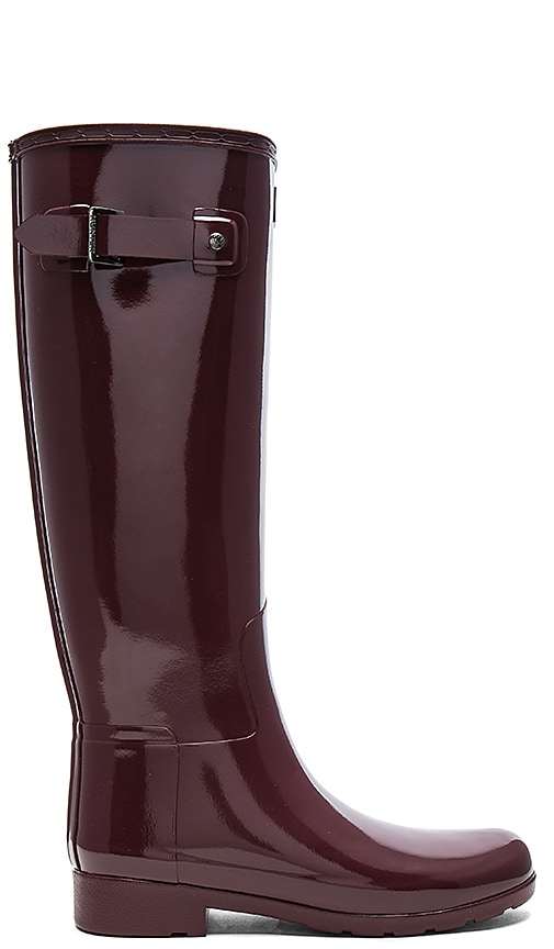 Hunter Original Refined Gloss Boot in Red