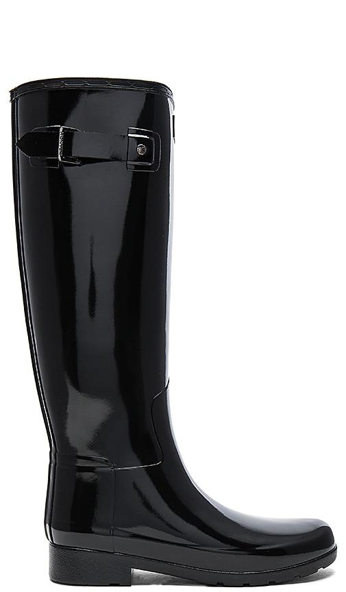 Hunter Original Refined Gloss Boot in Black