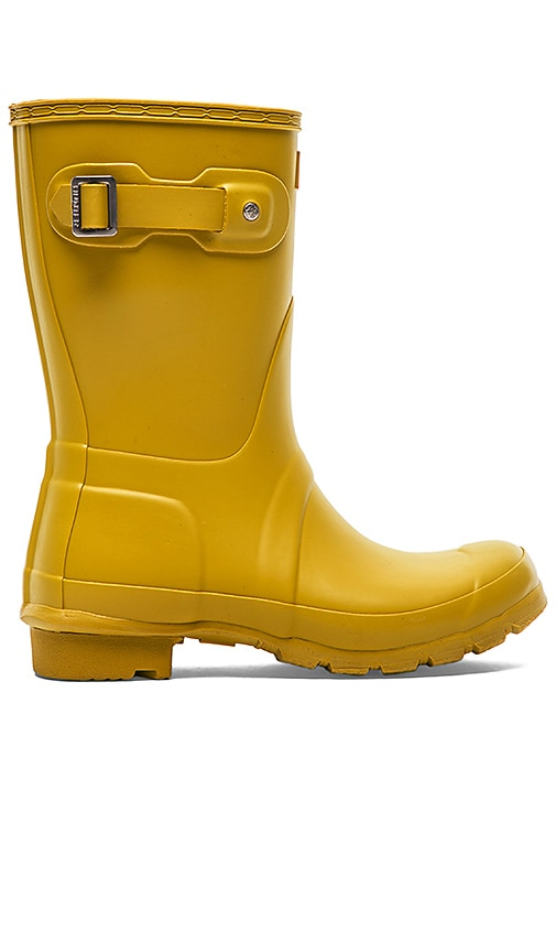 Hunter Original Short Rain Boot in Yellow