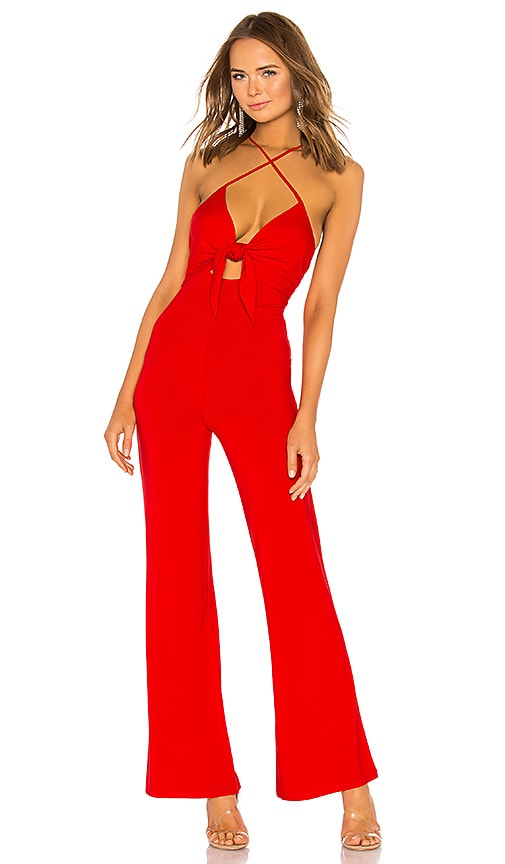 h:ours Vale Jumpsuit in Red