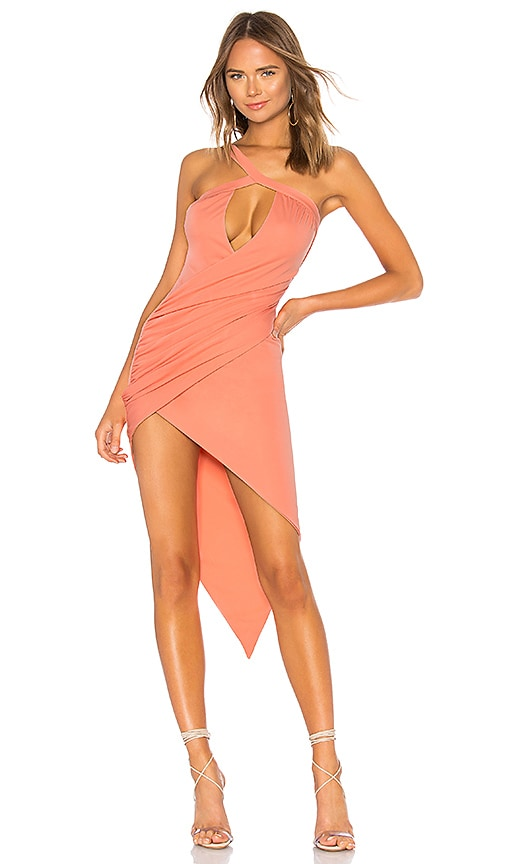 h:ours Calixto Dress in Peach