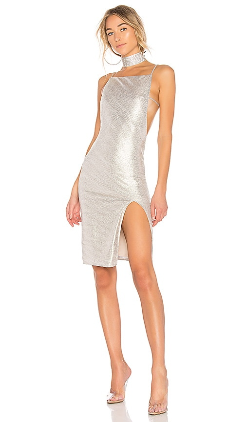 h:ours x REVOLVE Murphy Dress in Gold