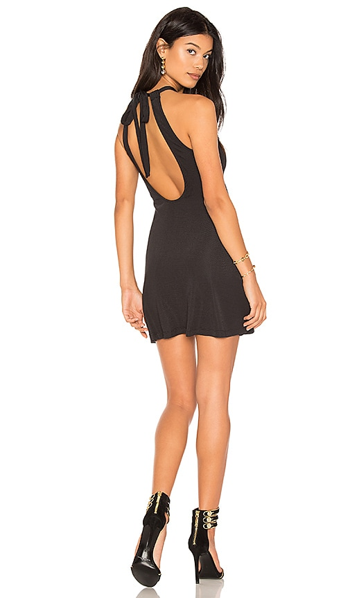 h:ours Cece Dress in Black