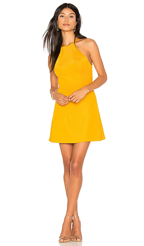 h:ours Cece Dress in Yellow