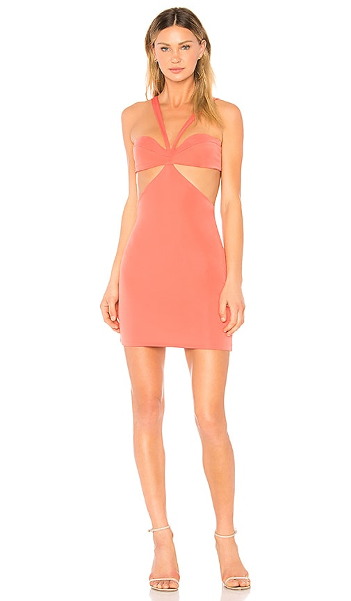 h:ours Sammie Dress in Coral