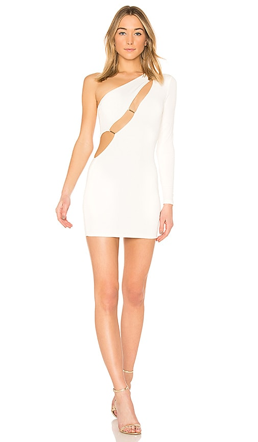 h:ours Blanche Dress in White