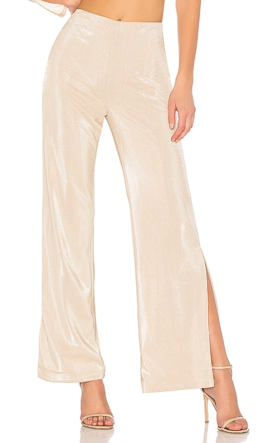 h:ours x REVOLVE Sonora Pant in Metallic Neutral