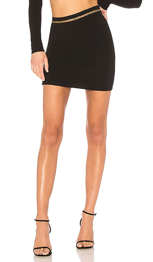 h:ours Deon Mini Skirt in Black