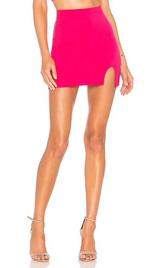 h:ours Clayton Skirt in Fuchsia