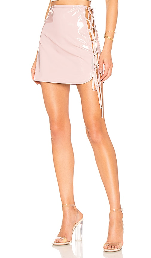 h:ours Siren Mini Skirt in Pink