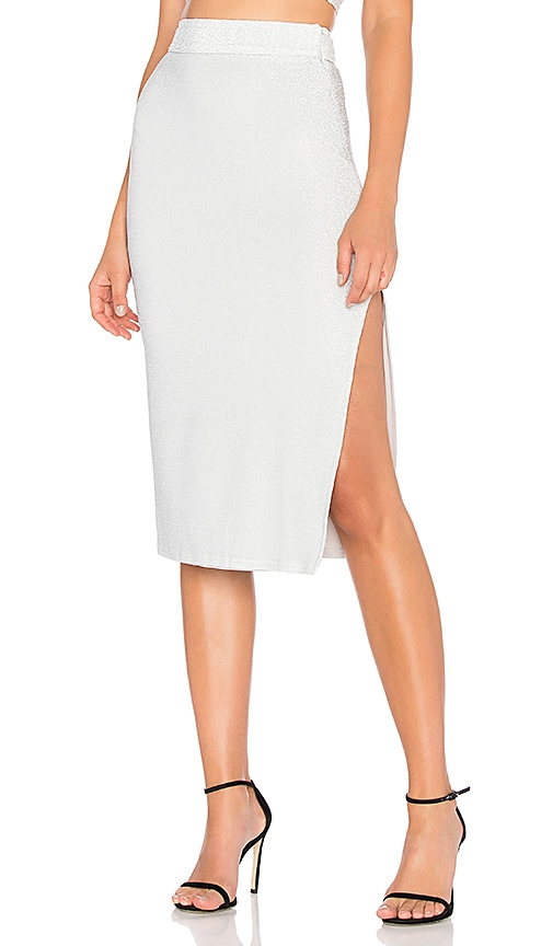 H:OURS X Revolve Lou Skirt in Metallic Silver