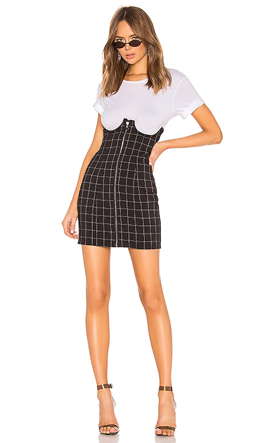 9ba034a16 h:ours Lillian High Waisted Mini Skirt in Black & White | REVOLVE