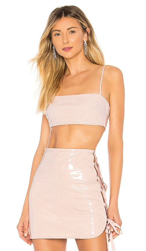 h:ours Kirah Crop Top in Blush