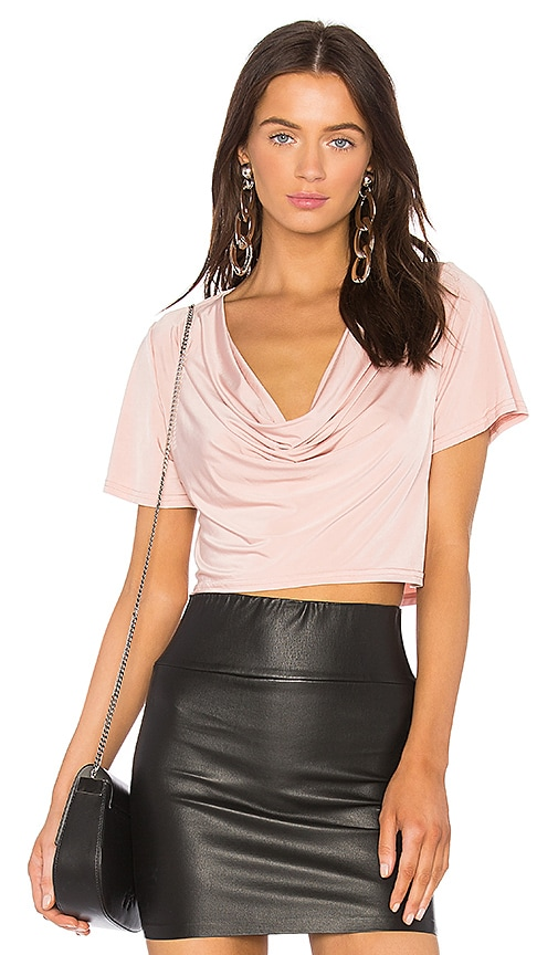 h:ours x REVOLVE Elias Crop Tee in Pink