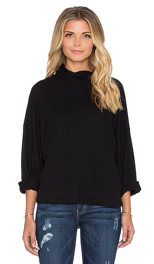 Hye Park and Lune Sydney Turtleneck Sweater in Real Black