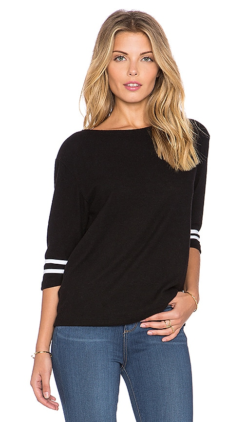 Hye Park and Lune Gemme 3/4 Sleeve Tee in Real Black