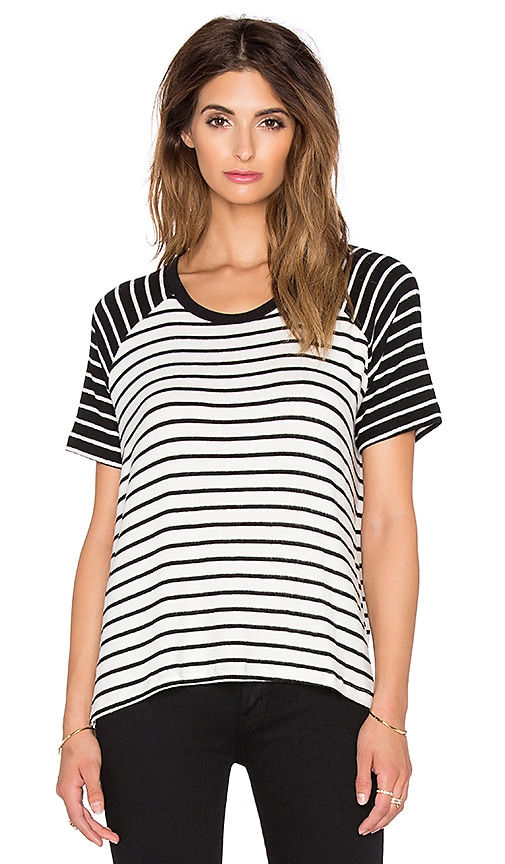 Hye Park and Lune Phyllis Short Sleeve Tee in Black Stripe