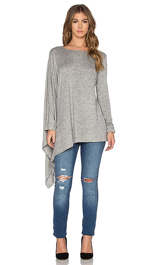 Hye Park and Lune Heather Long Sleeve Top in Gray