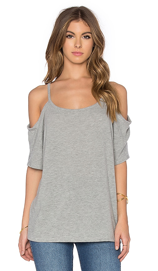 Hye Park and Lune Camilla Short Sleeve Top in Heather Grey