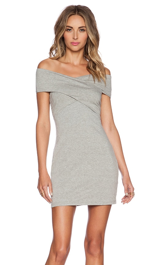 ISLA_CO That's A Wrap Dress in Grey Marle