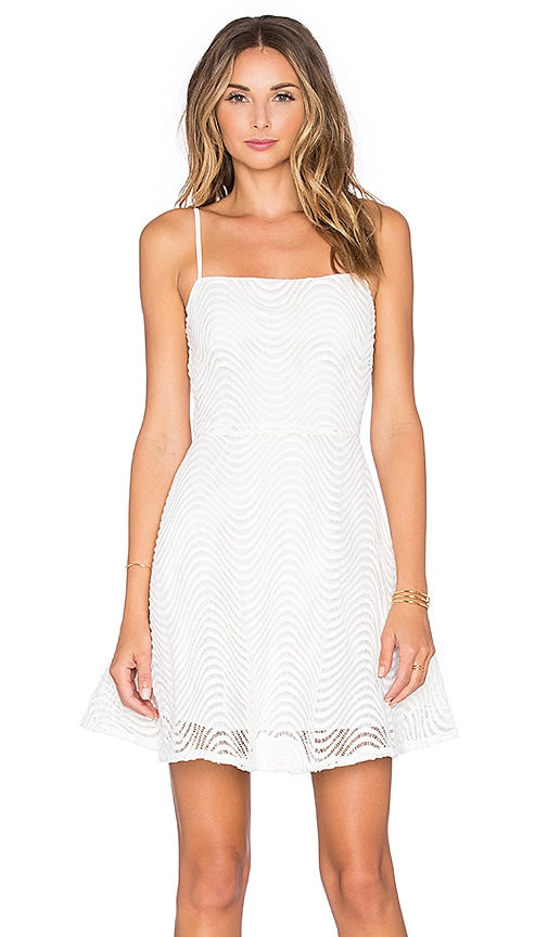 ISLA_CO Adrift Mini Dress in White
