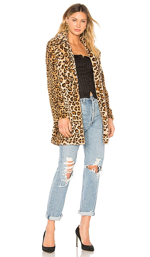I.Am.Gia Sahara Faux Fur Coat in Leopard