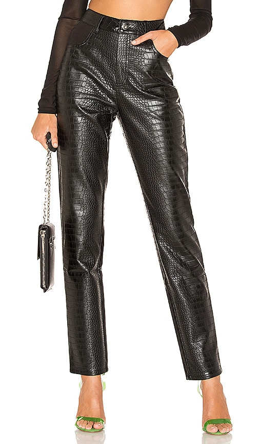 Yvette Faux Leather Pant