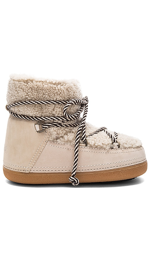 INUIKII Curly Boot with Lamb Shearling in Beige