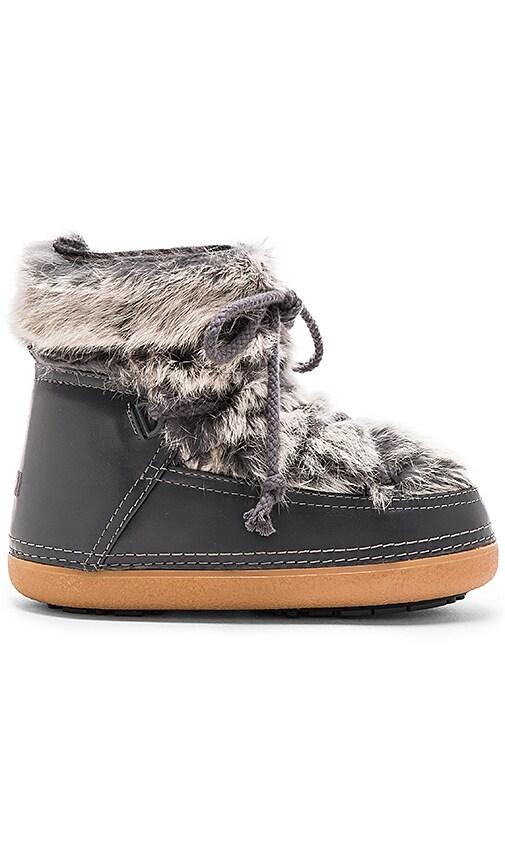 IKKII Rabbit Fur Boot with Lamb Shearling in Grey
