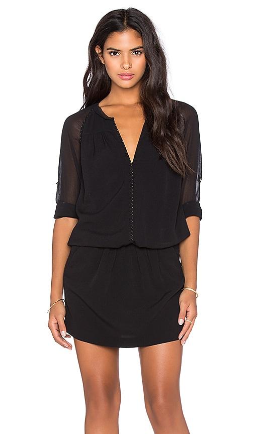 IKKS Paris 3/4 Sleeve Dress in Noir
