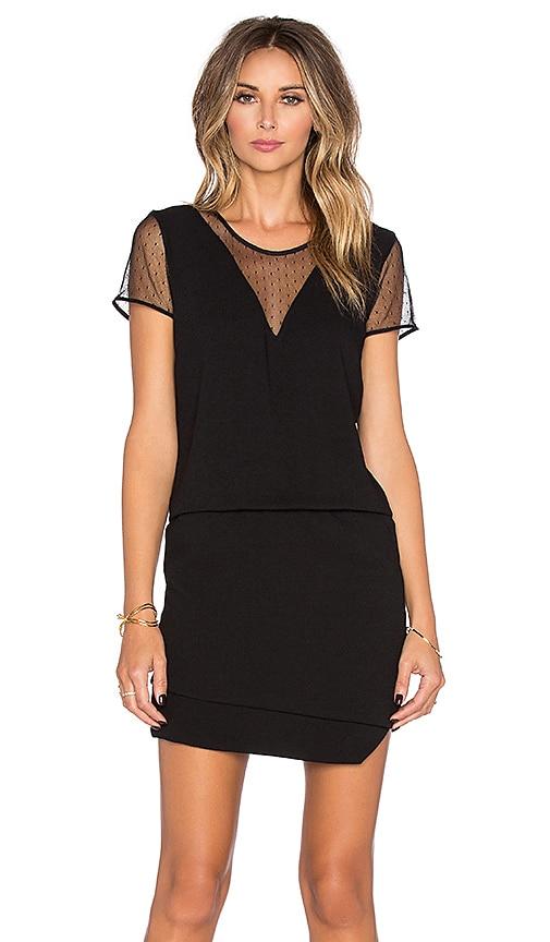 IKKS Paris Satin Dress in Black