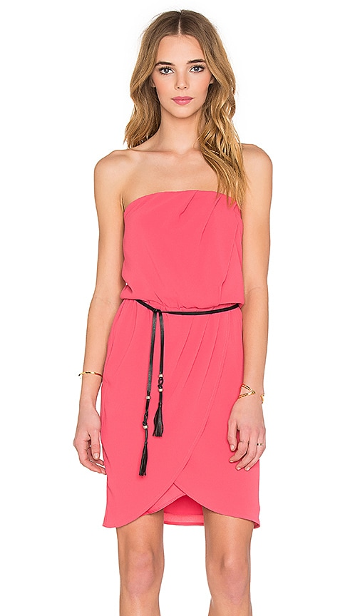 IKKS Paris Bustier Mini Dress in Fuchsia