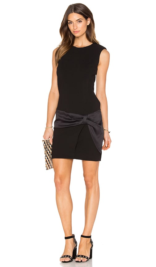 IKKS Paris Sleeveless Belted Detail Mini Dress in Black