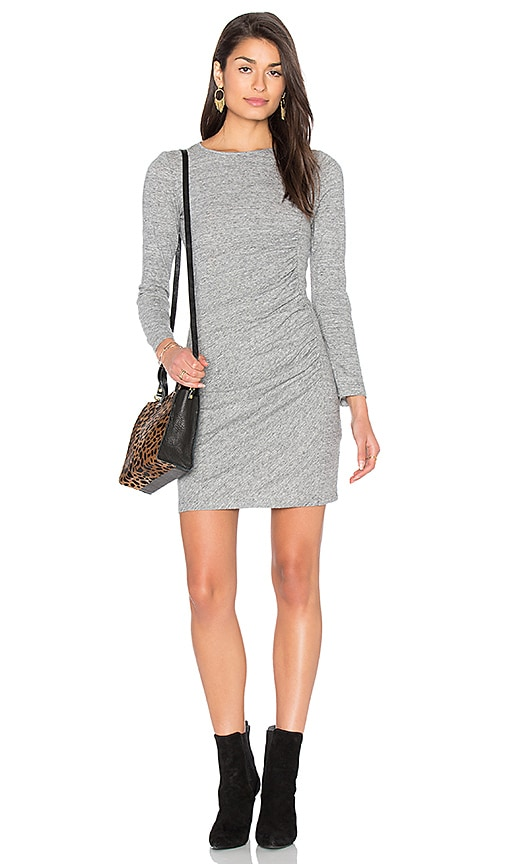 IKKS Paris Ruched Jersey Dress in Gray