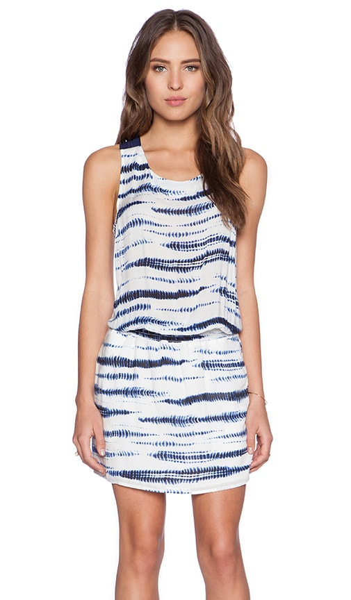IKKS Paris Tank Dress in Blue & White