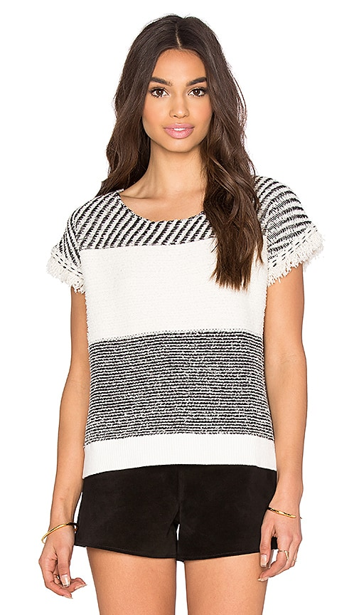IKKS Paris Stripe Pullover in Ecru