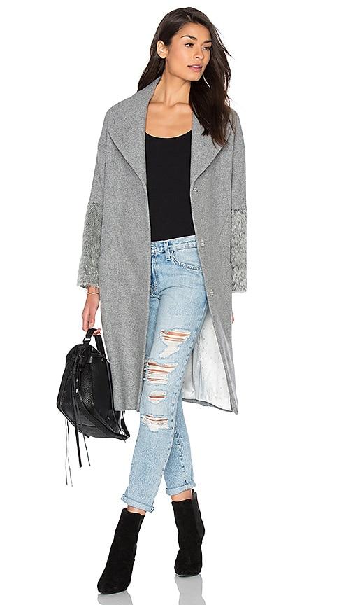 IKKS Paris Cupro Sleeve Coat in Gray
