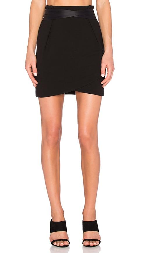 IKKS Paris Belted Mini Skirt in Black