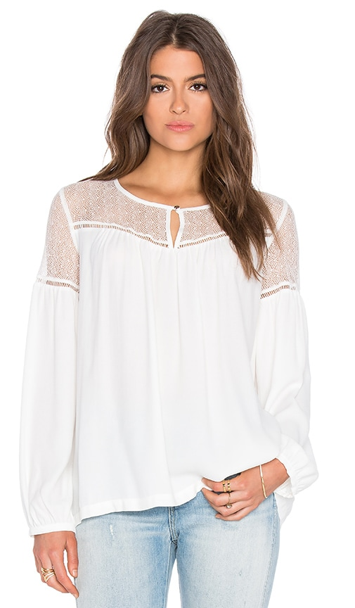 IKKS Paris Sheer Yoke Blouse in White