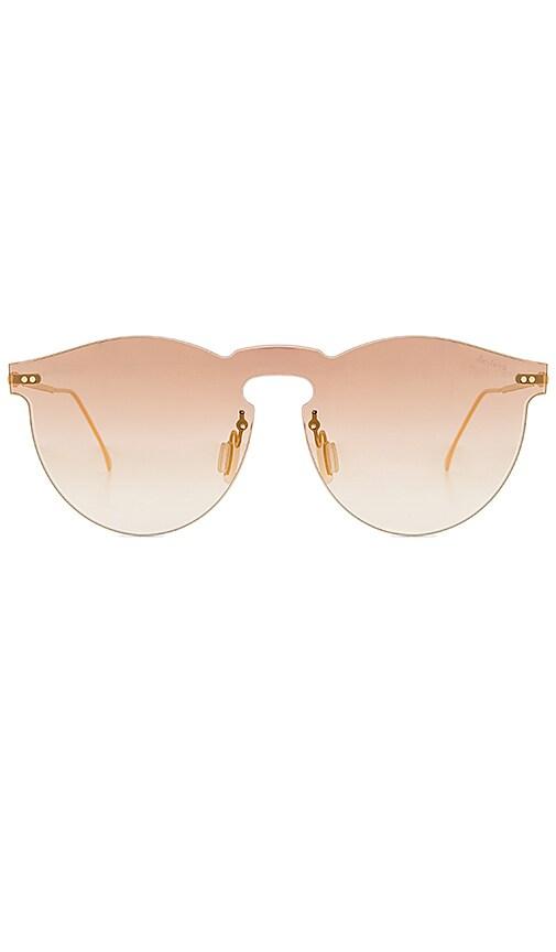 illesteva X REVOLVE Leonard Mask Sunglasses in Metallic Gold