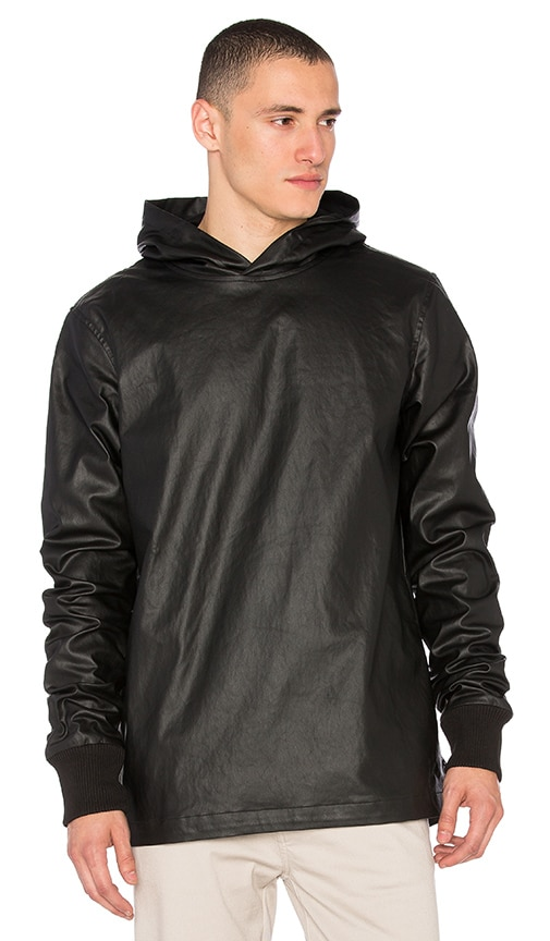 I Love Ugly Waxed Hooded Sweater in Black