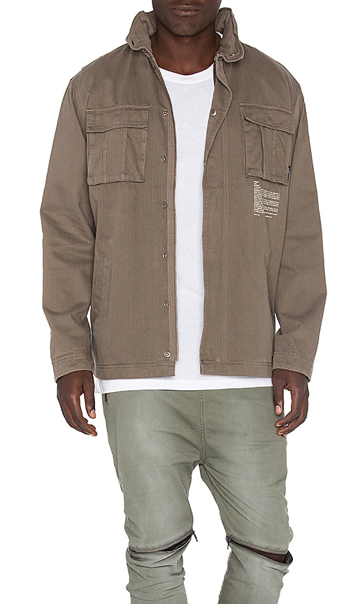 I Love Ugly Fatigue Jacket in Brown