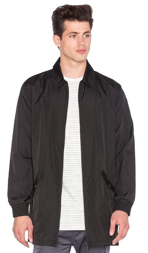 I Love Ugly Longline Coaches Jacket in Black